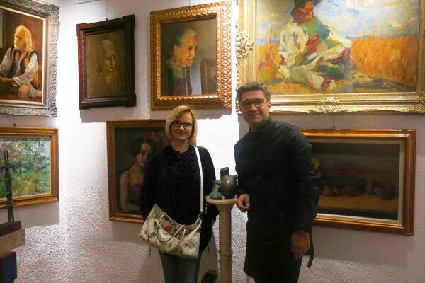 In der Galerie Rotenberg-Uzunov, Bukarest