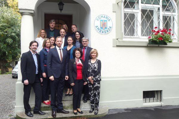 Empfang bei der <strong>Rumänischen Botschaft, Bern</strong>