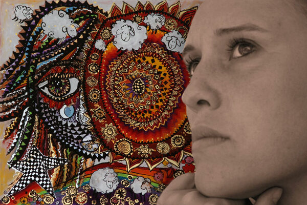 Die Kunstmalerin TELI (Teofilia Juravle)